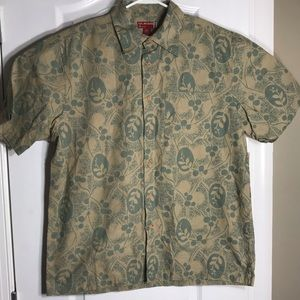 Guess Jeans Cotton Hawaiian Button Shirt Medium